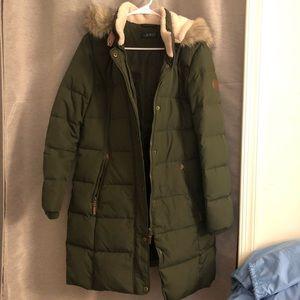 Ralph Lauren Green Maxi Puffer Jacket